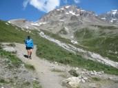 Descending Col de la Seigne.