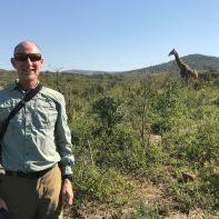 John with Giraffe.