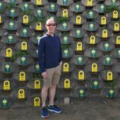John at the Comrades Wall.