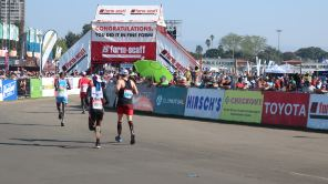 At the finish!