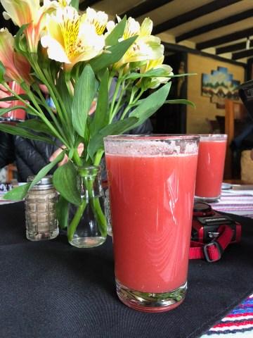 Delicious juice.