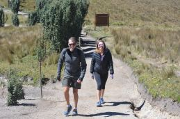 Joe and Lori tackle the mountain. Team Cowin!