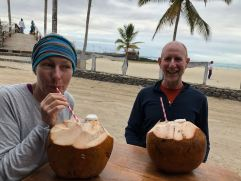 We stopped for a coco loco.