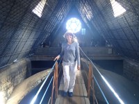 We got to walk across the nave.