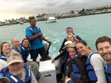 Team Galapagos on the Panga.