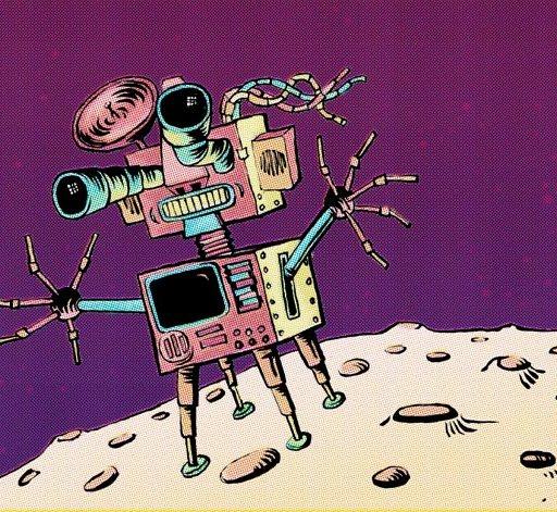 Bot on the moon