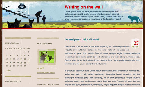 Template for Sapo Blogs