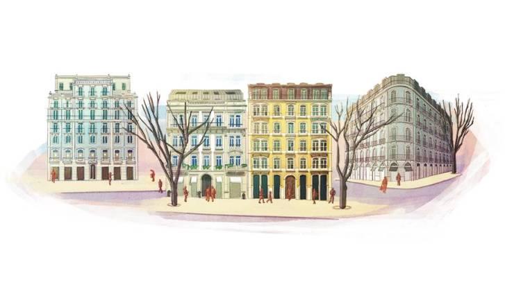 Edifícios de luxo na Av. Liberdade
