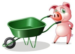 pig and wheelbarrow 19301484_s