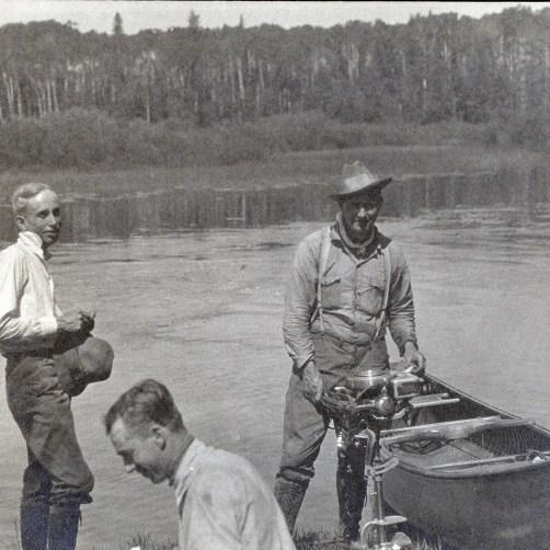 Gilbert LaBine on right