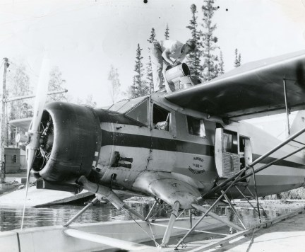 Norseman plane picks up cadaver