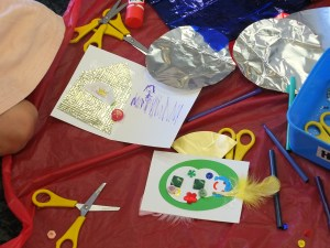Christmas cardmaking at the Upper Hutt Library
