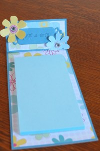 The completed pad with embellishments