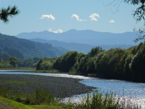 The Hutt River looking towards the Tararua Ranges