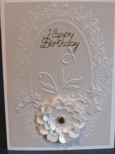 Cream on cream card
