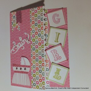 CTMH Lollydoodle baby card.