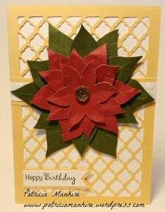 CTMH Artfully Sent Yellow poinsettia card