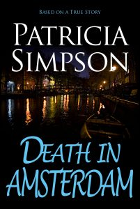 Book cover of Death in Amsterdam by Patricia Simpson.