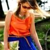 Saia azul 021 - Look Saia Longa e Regata - Adriana Antunes