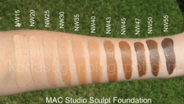 MAC tons de Nw Rosados1 - Como Maquiar Peles Negras – Exemplos de Bases MAC e Mary Kay