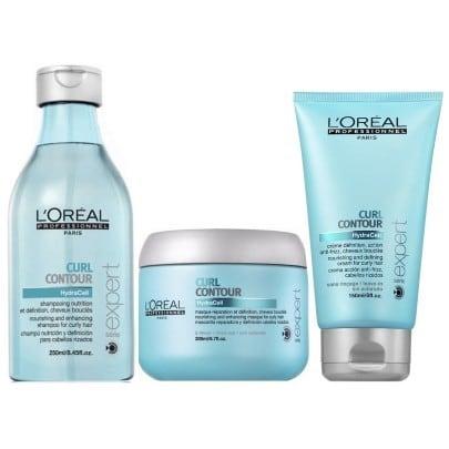 Loreal Expert Curl Contour Kit Shampoo 250ml Mascara 200ml e Creme para Pentear 150ml  - Cacheado e Colorido