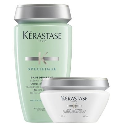 Kerastase Specifique Kit Antioleosidade Shampoo Equilibrante 250ml e Masque Gel Creme 200ml  - Cabelos Sedosos mesmo sendo Oleosos!