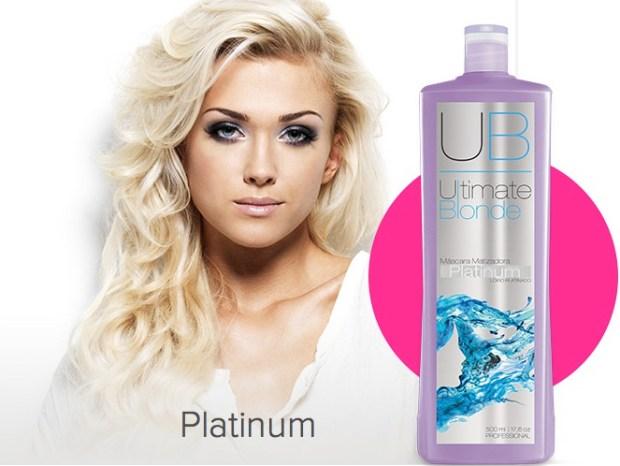 Ultimate Blonde UB Máscara Matizadora Platinum 500ml