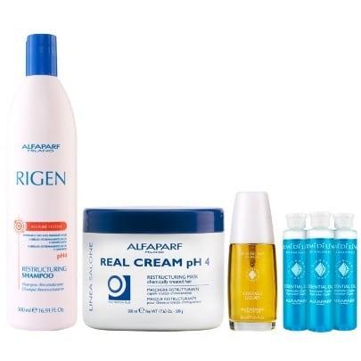 Alfaparf Rigen Kit Reparacao Cabelos Extremamente Danificados - Como recuperar cabelo emborrachado