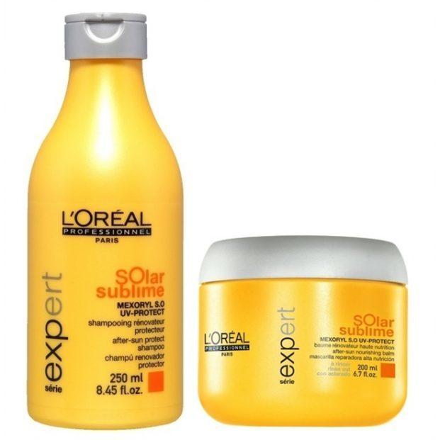 Loreal Expert Solar Sublime Duo Kit Shampoo 250ml e M scara 200ml  621x621 - 4 produtos de cabelo para o verão passar numa boa