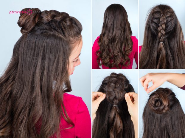 hairstyle bun with plait tutorial picture id626428348 621x466 - Penteados Para Madrinhas De Casamento 2017