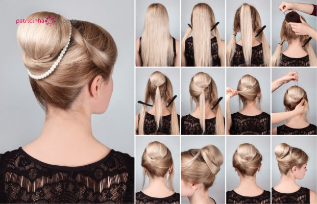 hairstyle with bun for long hair tutorial picture id524171598 621x400 - Penteados Para Madrinhas De Casamento 2017
