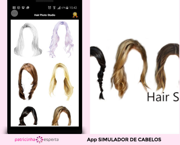 App Hair Salon  Color Changer 621x500 - Simulador de Cabelo: Corte e Cor