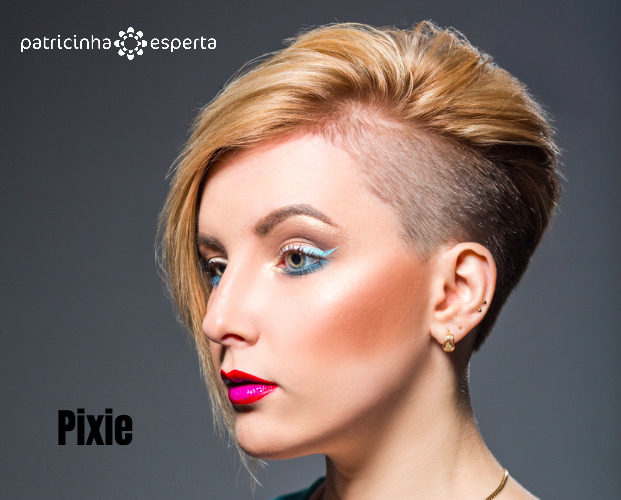 young woman with short trendy haircut and bright makeup picture id878888714 621x500 - Cabelo loiro 2018: Tendências em Cortes, Cores e Mechas