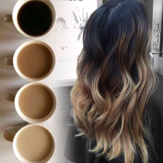 balaiagem cafe - Balaiagem Café: Coffe Hair - 30 Cabelos Para Você Copiar
