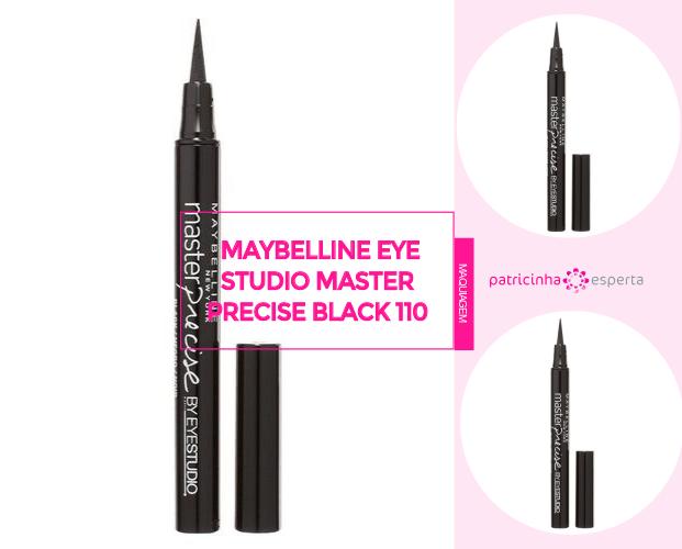 Caneta Delineadora Maybelline Eye Studio Master Precise Black 110 - Caneta Delineadora: Qual A Melhor? - Marcas, Resenhas, Preços