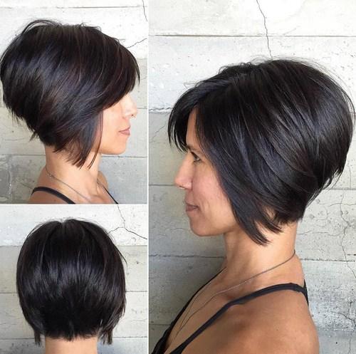 6 short inverted bob haircut for thick hair - Cabelos Curtos para Senhoras: Ideias Pra Copiar Já
