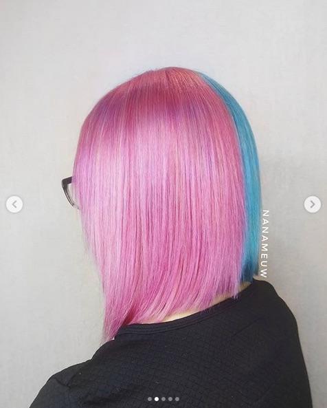 cabelo azul com rosa - Cabelo Azul: Como Pintar Em Casa, Fotos Inspirações, Como Cuidar