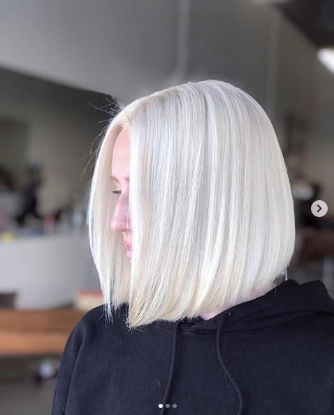 cabelo platinado curto 4 - Cabelo Platinado Curto 2019/2020: Tendências de Cortes, Cores, Fotos