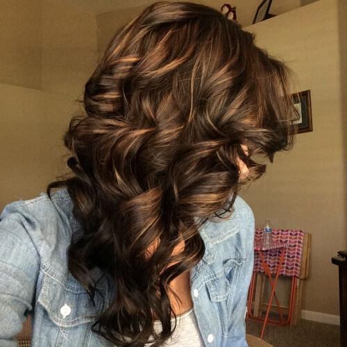 Deep Chocolate Brown Hair with Highlights - Cabelo Castanho Chocolate: 50 fotos inspirações, dicas de cuidados