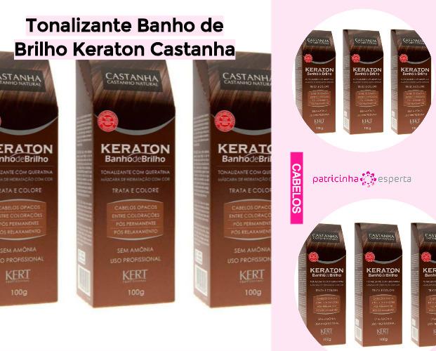 Tonalizante Banho de Brilho Keraton Castanha - Shampoo Tonalizante ✅ Como Funciona, Qual o Melhor? Como Usar
