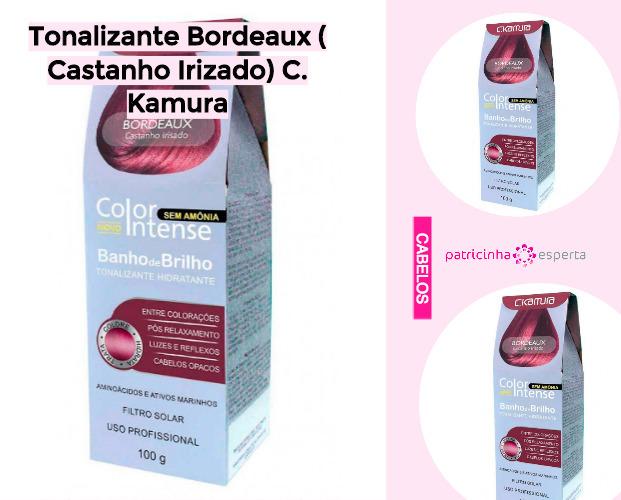 Tonalizante Bordeaux Castanho Irizado C Kamura - Shampoo Tonalizante ✅ Como Funciona, Qual o Melhor? Como Usar