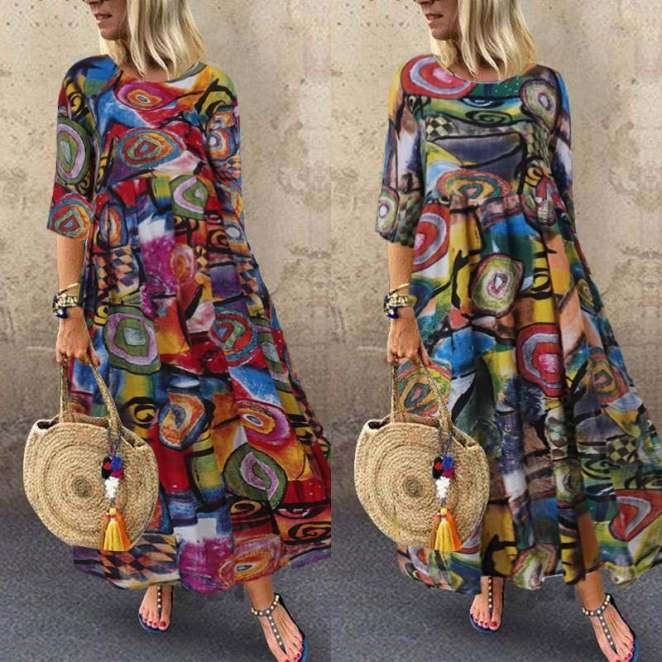 H546a39edfd584f5eabdb42f55e112c90M - Vestidos Estampados 2020: 70 Looks Inspirações, Trends