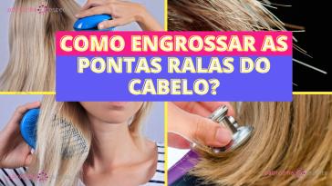Como engrossar as pontas ralas do cabelo?