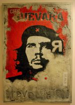 26 Julio : Che Guevara painting on concrete