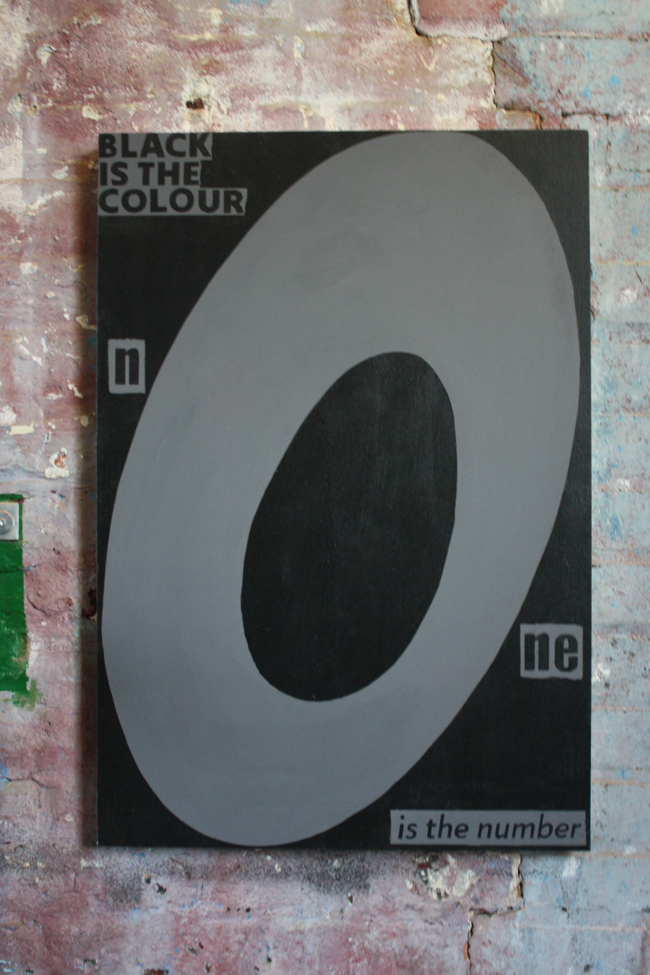 black is the colour - unframed artwork
