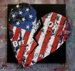 broken heart - American flag : thumbnail
