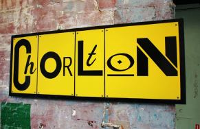 Typographic suburb : metal and wood wall art