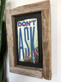 please - wood wall art