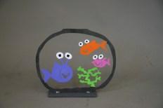 Aquarium mit drei Fischen (M1006)