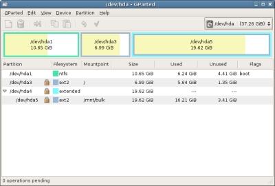 Windows Vista Disk Management: nooit 2 partities samenvoegen